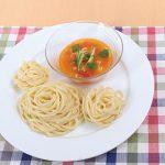 冷たいトマトのつけ麺パスタ