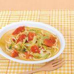 和風だしのトマトスープパスタ